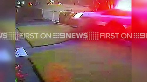 Moment police car smashed into Sydney home caught on CCTV