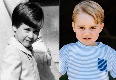 Prince William (left) and Prince George.