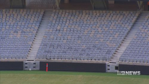 The LED fencing is predominantly plastic. (9NEWS)