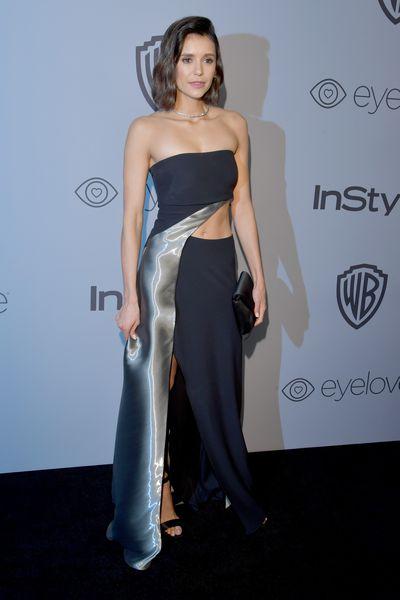 Actress Nina Dobrev in Ralph Lauren