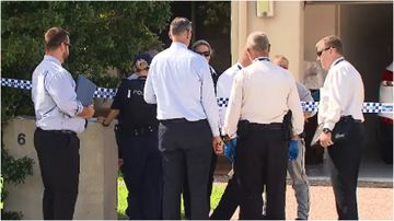 Police are searching a property in Browns plains to determine how a man wound up with critical head injuries.