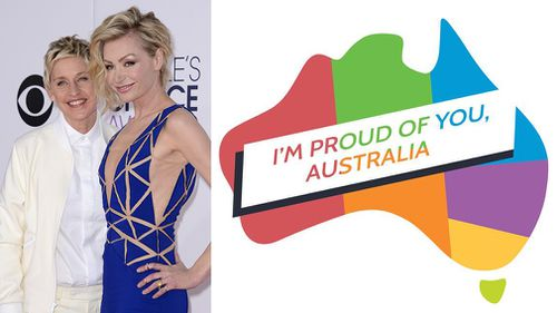 """It's a g'day. Way to go Australia. #MarriageEquality"" - Ellen DeGeneres"