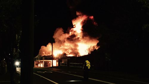 9NEWS reader Greg Hover took this photo of the blaze in Milton.