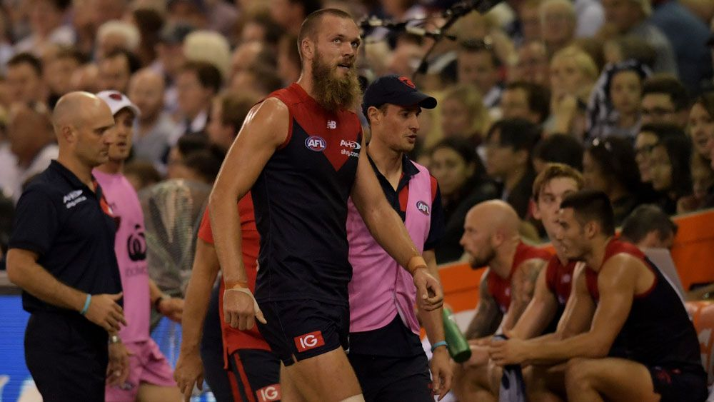 Melbourne Demons lose ruckman Max Gawn for 12 weeks in AFL blow