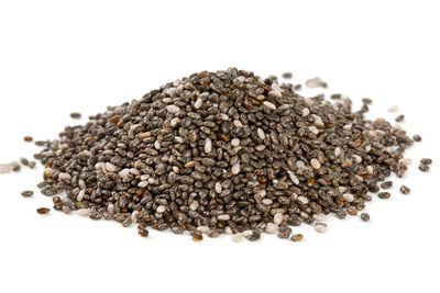 Chia seeds: 24 micrograms per ¼ cup (60ml)