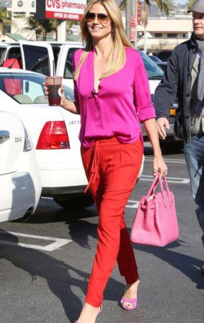 Model and TV host Heidi Klum in Los Angeles.