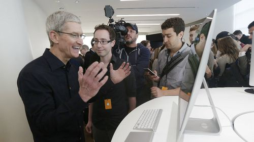 Mr Cook also announced a new OS X operating system for Mac computers. (AAP)