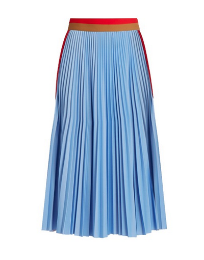 """<a href=""""http://www.matchesfashion.com/au/products/MSGM-Striped-panel-pleatedskirt--1059039"""" target=""""_blank"""">MGSM</a>striped pleated skirt, $467"""