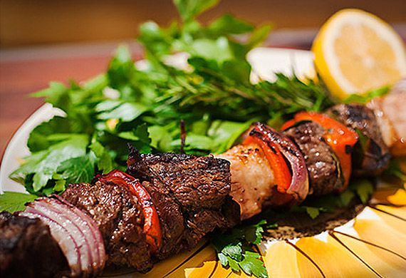 Adrian Richardson's barbecue shashlik beef skewers