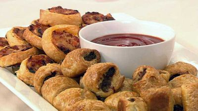 <strong>Sausage rolls and pizza spirals</strong>
