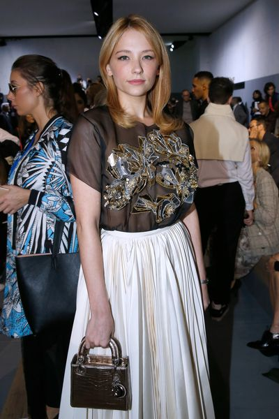Hayley Bennett front row at Christian Dior, Paris Fashion Week