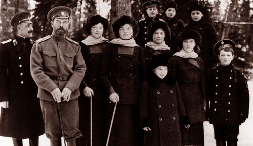 Tsar Nicholas II from the Russian Royal Family. around the time of his abdication.