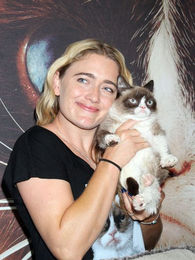 Grumpy Cat's fame took off when her human, Tabitha Bundesen, posted videos of her on YouTube in response to people claiming her look was photoshopped.