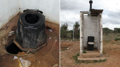 These are examples of toilets in South African schools. (Equal Education)