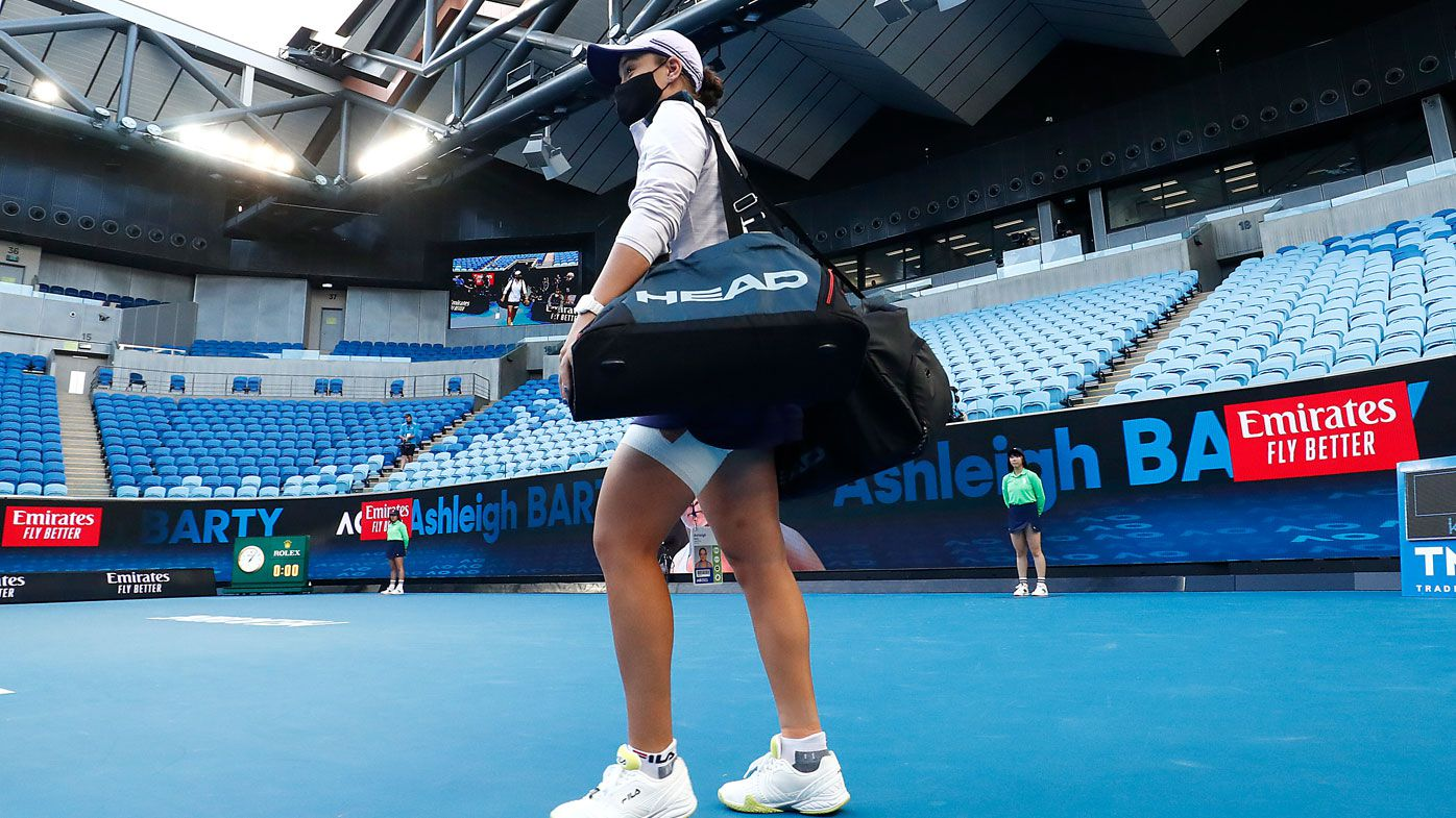 EXCLUSIVE: Why Ash Barty prefers new sound of silence at Melbourne Park