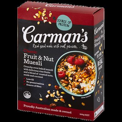 Carman's Classic Fruit & Nut Muesli - 15g sugars per 100g
