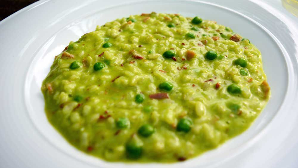 Tutto Bene's risi e bisi recipe (rice and pea risotto)