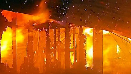 The fire was so intense the entire house was destroyed.