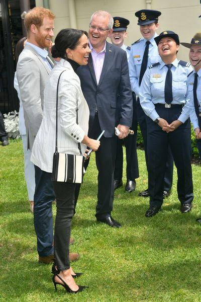 Scott Morrison & Prince Harry and Meghan Markle