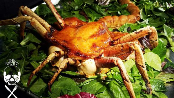 Thanksgiving edible Alien facehugger feast roasted chicken