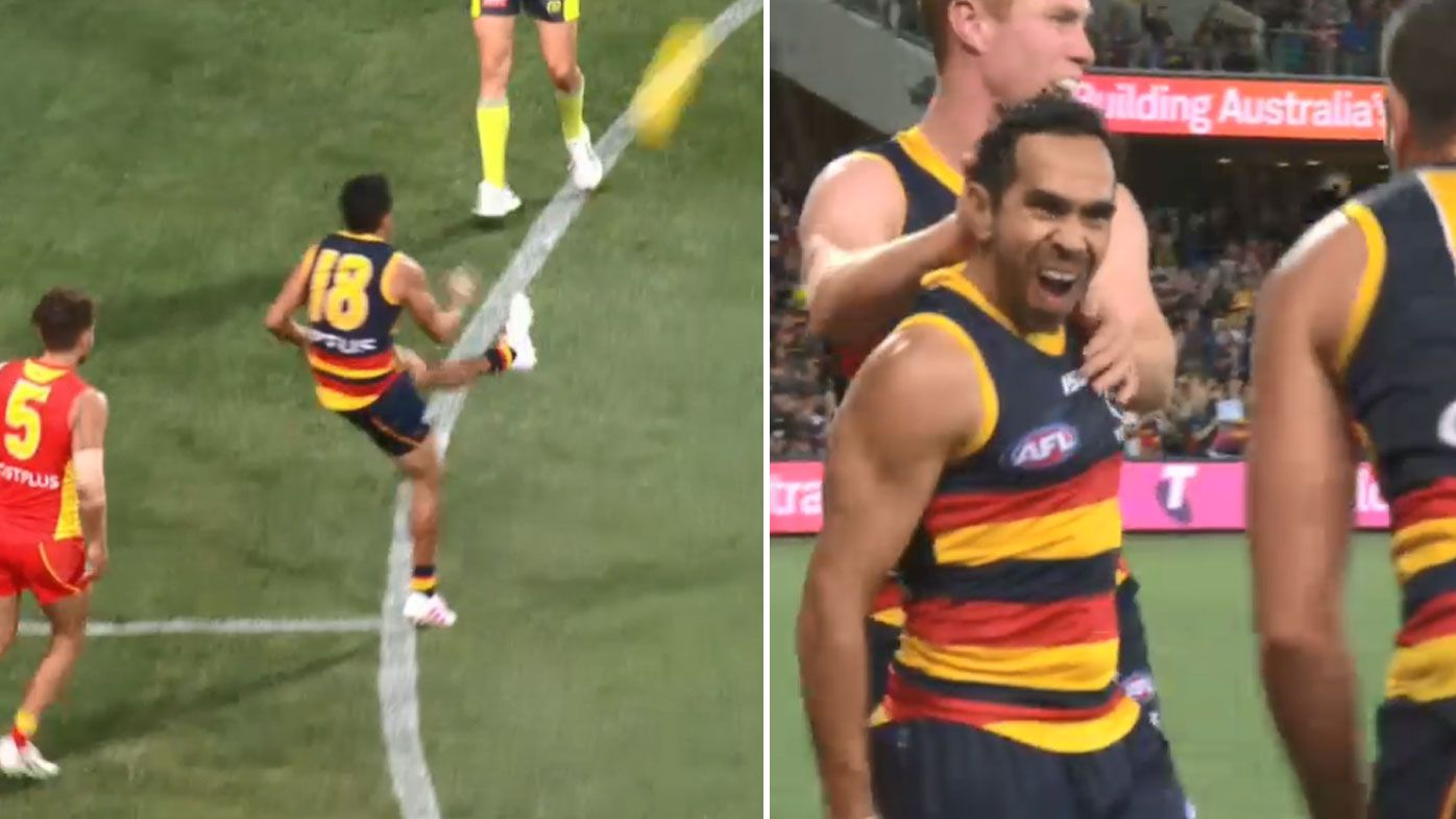 Eddie Betts leads Adelaide Crows with six goals in Gold Coast Suns thrashing