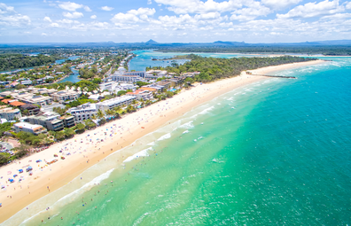 An aerial view of Noosa Heads