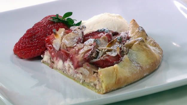 Strawberry and ricotta crostata