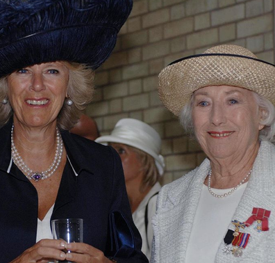 Camilla meets Dame Vera during an official function.