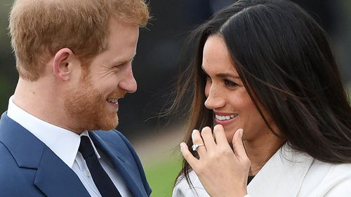 Harry and Megan Markle announced their engagement last month. (AAP)
