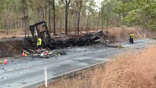 Two truckies killed in fiery Cairns crash