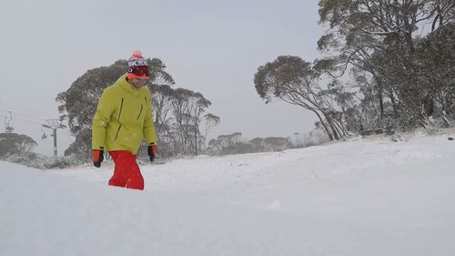 Temperatures dropped to minus one degree this morning. Picture: Thredbo