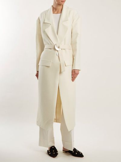 "<a href=""https://www.matchesfashion.com/au/products/Albus-Lumen-Elle-wool-and-silk-blend-coat-1178045"" target=""_blank"" draggable=""false"">Albus Lumen Elle Wool and Silk-Blend Coat, $1,180</a>"