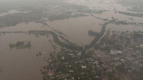 Windsor, north-west of Sydney, is essentially underwater. NSW floods