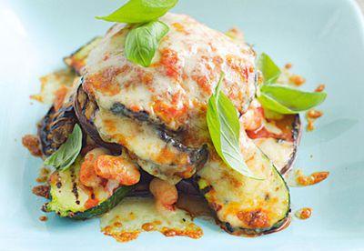 Char grilled vegetable gratin