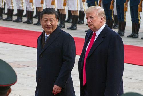 Xi Jinping with Donald Trump.