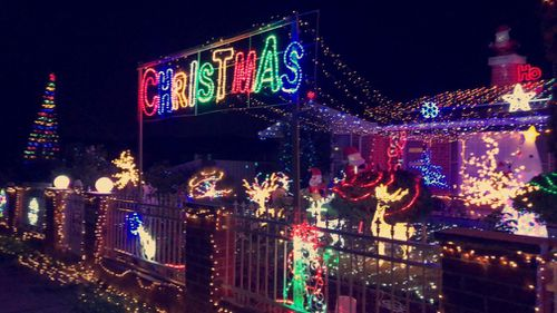 Mr Reddy planned to use this year's lights display to raise money for charity.
