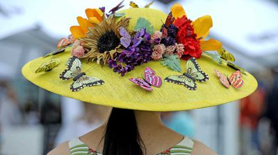 No, these aren't real butterflies. They're merely decorations on this hat. (AAP)