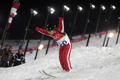 Camplin competing during the 2006 Winter Olympics.