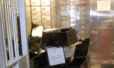 <p>A gang of mostly elderly men broke into London's diamond district Hatton Garden in 2015, drilling through a concrete safe-deposit vault (pictured) to steal jewellery, gold and cash worth more than 14 million pounds ($18 million.)</p>