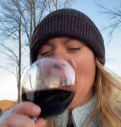 Woman explains wine glass photo fail TikTok laughter over incident