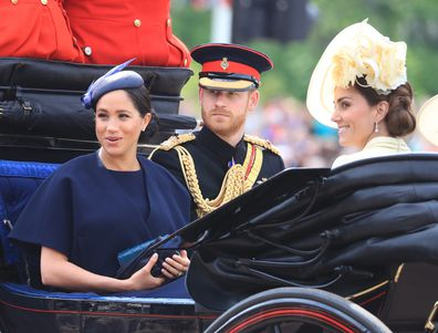 The Duke and Duchess of Sussex with the Duchess of Cambridge