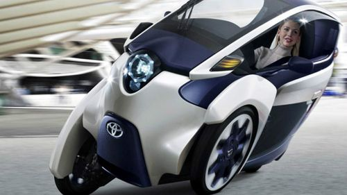 Is it a car? Is it a motorbike? Toyota shows off new vehicle for busy people