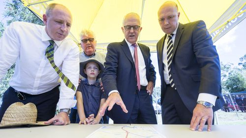 The $150 million for the Murrumba Downs section north of Brisbane, which sits in Peter Dutton's electorate, will create new entry and exit ramps on the highway. Picture: AAP.