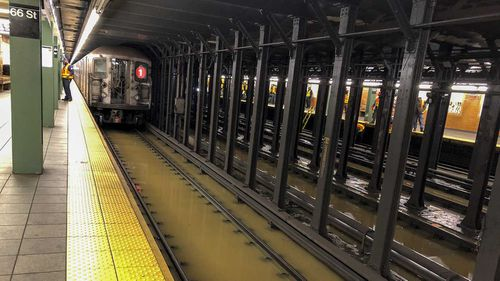 Visaya Hoffie tripped and fell onto subway tracks at a New York station.