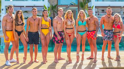 The 10 starting Islanders from Love Island Australia Season 1.