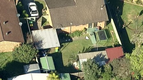An aerial shot of the backyard whether the body was found. (9NEWS Choppercam)