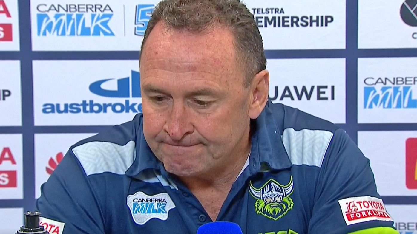 Ricky Stuart in his post-match press conference