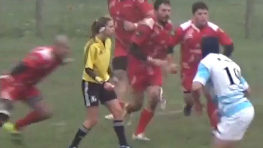 Ban for player who tackled rugby ref