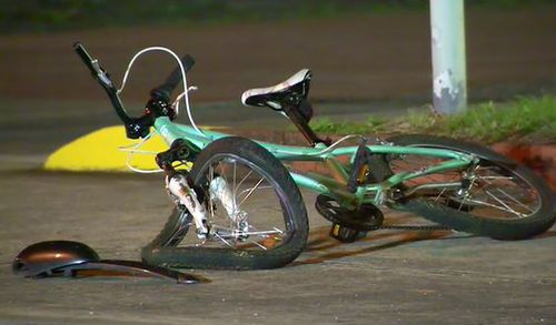 The bike was destroyed in the incident.