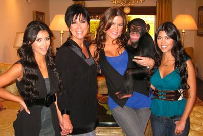 The Kardashian family also adopted a chimpanzee, although only very briefly. Kim and her sisters rented the animal to play a prank on their mother, who was pestering them for grandkids.